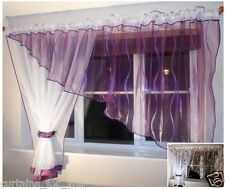MODERN PURPLE BROWN  AMAZING NET CURTAINS WHITE VOILE  FOR YOU FREE DELIVERY!