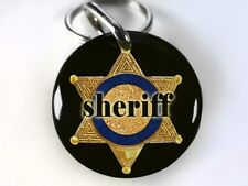Sheriff badge cop funny Police dog Humordog tags custom pet tag PET IDs ID4Pet