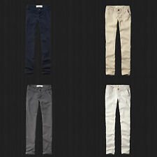 New Hollister By Abercrombie Women's Skinny Chinos Pants All Size, Color NWT