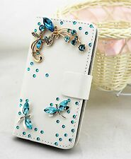 Bling Rhinestone Wallet Card Holder Leather Flip Pouch Case Cover For Samsung 2