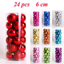 New 60MM Round Christmas Balls Baubles XMAS Tree Ornament Christmas Decor