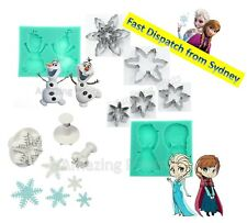 Frozen Party Cake decorating sugarcraft Fondant Plunger cutter Disney Supply toy