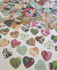Vintage Shabby Chic Roses Heart Confetti Scatters Wedding Table Decoration