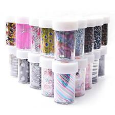Nail Art Transfer Foil Nail Sticker Tip Decal Decoration Design DIY 20 Style