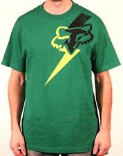 Fox Racing Bolted Graphic Tee Mens Green Crew T-Shirt 100% Cotton New NWT