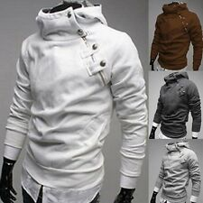 Fashion Men Luxury Rabbit Cotton Pullover Hooded Jacket Fleece Coat Sweatshirt
