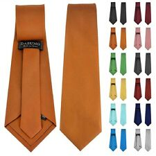 "Dabung Mens Classic Colors Solid Plain Suit 3.5"" Wedding Formal Wear Neck Ties"