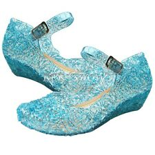 Frozen Princess Queen Anna Elsa Birthday Party Casual Jelly Shoes Gr. 28-33