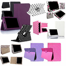 PU Leather Stand Flip 360 FOLIO Case for Tablet Devices Apple Samsung Kindle Nex
