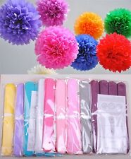"""4"""" Pom Poms Tissue Paper Flowers Home Outdoor Decoration Wedding Party Free S/H"""