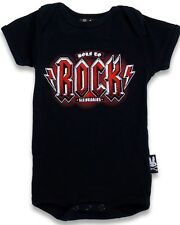 Baby Boys Girls Onesie Born to Rock BNWT Bodysuit Romper New ACDC Rock n Roll