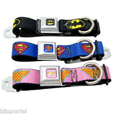 DOG COLLAR Seat Belt DC COMICS Nylon BATMAN Superman WONDER WOMAN Buckle-Down