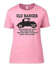 Old Banger 29 Years Old Womens Ladyfit Funny T-Shirt 29th Birthday Gift Present
