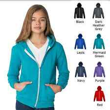 American Apparel zip hoodie kids boys and girls ages 8 -12 8 colours chest 26-28