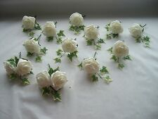 10 Wedding flower Rose buttonhole Package and 2 x double head Rose buttonholes