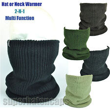 Multi Function Fall Double Ply Neck Warmer Ski Snood Hat Scarf Face Mask Gaiter