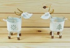 Metal Reindeer Tea Light  Candle Holder Decoration Christmas Ornament T-Light