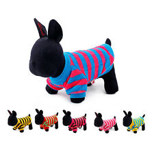 Brand New PETCIRCLE Color Cute Fashion Stripe Sweatshirt Clothes for Dog Puppy