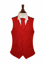 Herren Lloyd Attree & Smith Red 100% Polyester Suede Effect Weste