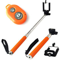Wireless Bluetooth Remote Control Shutter+Extendable Handheld Monopod For iPhone