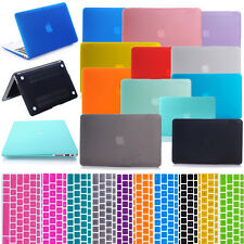 Hard Rubberized Case Shell + Keyboard Cover For MacBook Pro Air Retina 11 13 15