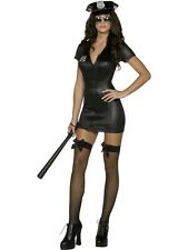 ADULT WOMENS FEVER SEXY COP COSTUME SMIFFYS POLICE OFFICE FANCY DRESS - 4 SIZES