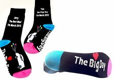 Wedding Car +The Big Day design, Classic Black Socks WITH Your Personalised Text
