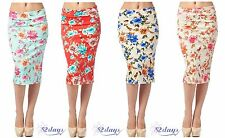 WOMEN MULTI PRINTED SEXY ELEGANT PENCIL SKIRT - MADE IN USA (MORE COLORS)