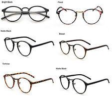 New Fashion Retro Vintage Round Circle Frame Eyeglasses Clear Lens Eye Glasses