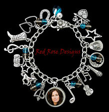 ~COUNTRY MUSIC THEMED CHARM BRACELET CHOOSE YOUR FAVOURITE, CUSTOMISED~