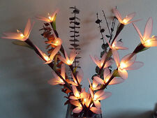 "23"" LIGHTED FLOWER BRANCHES FLOWER FAIRY LIGHTS LIGHTING HOME DECOR"
