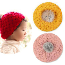 Cute Baby Kids Boys Toddler Winter Warm Knitted Crochet Beanie Hat Cap