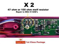 2 x GHD Mk4 R8 / R11 Melf Resistor 100 or 50/47 Ohm (hair straightener repair)