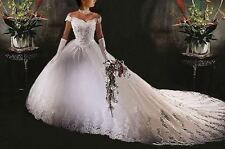 New White Wedding Dress Bridal Gown stock size: 6/8/10/12/14/16