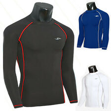 Mens Sports Long Sleeve Under Base Layers Tank Tops T-Shirts Compression Tights