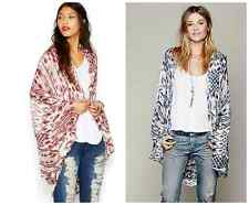 FREE PEOPLE  Woven Fringe Poncho Cardigan Pick Your Color One Size New Sold Out