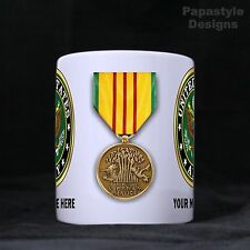 US Amry Service Medals Personalized 11oz Coffee Mugs Made in the USA.