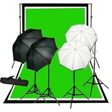 Studio photo 4 lights continuous umbrella lighting kit backdrop Support system