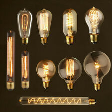 Retro Vintage Industrial Style E27 40W 110V 220V Glass Edison Light Bulb