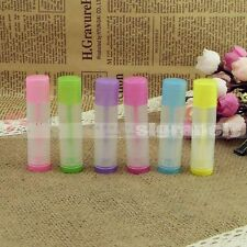 5/50/100/500 Colorful 5g Transparent Empty lipstick Lip Balm Container Tube+Caps