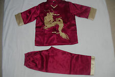 BN boy Chinese Kungfu Jackie Chung costume age 4-5 2 colours fast delivery