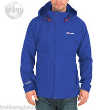 Berghaus Men's Bowfell Waterproof Goretex GTX Jacket Raincoat Intense Blue - New