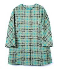 NEW AUTH RED VALENTINO woven plaid motif cocoon Coat in Jade $1025