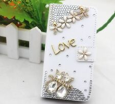 Crystal love Wallet Card Holder PU Leather Flip Case Cover for Sony phones