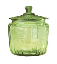 Miles Kimball Avocado Depression Style Glass Biscuit Jar