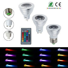 HQ LED Bombillas MR16 GU10 E27 4W RGB Colorful Bulb Light  Focos Lámparas & IR