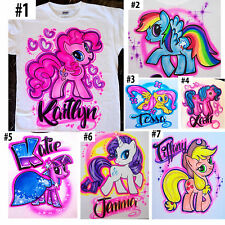 Airbrushed Custom My Little Pony Rainbowdash Pinkie Pie T-Shirt Onesie All Sizes