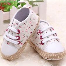 Toddler Baby Girl Floral Soft Sole Crib Shoes Sneakers Newborn to 12 Months M14