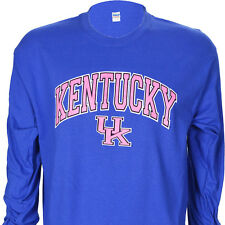 University of Kentucky UK Pink Arch on a LS Blue T Shirt ~ Wildcat Basketball