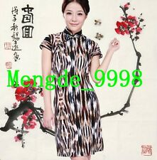Sexy Women Leopard Dress Charming Women Evening Dress/Skirt Cheong-sam M070-2